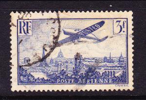 FRANCE  1936  3f    AIRMAIL  FU    SG 538