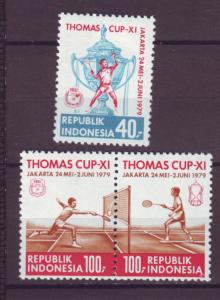 J21087 Jlstamps 1979 indonesia set mh #1042-44a sports