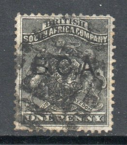 British Central Africa 1891 1d black SG 1 used