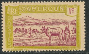 CAMEROUN 1925-38 1c CATTLE Pictorial Sc 170 MLH