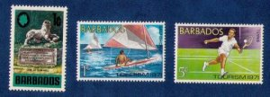 Barbados Sc 328 MH With Others Sc 357-358 Very Fine 3 Stamps Total.