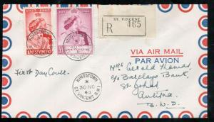 St Vincent #154 - #155 Very Fine Used On Registered First Day Cover