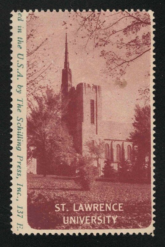 St. Lawrence University Poster Stamp - The Schilling Press, Inc.