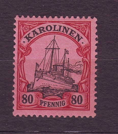 J23227 JL stamps 1901 caroline island mlh #15 ship