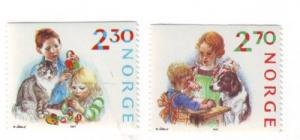 Norway Sc 920-1 1987 Christmas stamps mint NH