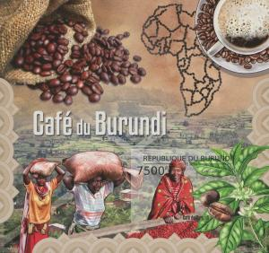 Burundi MNH S/S Coffee Bean Harvest 2012