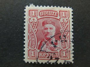 A5P23F68 Montenegro 1907 1kr used