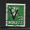 NORWAY, 225, USED, 1941 ISSUE, OVPTD V