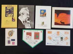 US Mixed lot of 7 USPS FDI Souvenir Cards & Foldouts