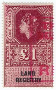 (I.B) Elizabeth II Revenue : Land Registry £1