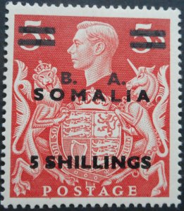 British Forces in Somalia 1950 GVI Five Shillings opt SG S31 mint
