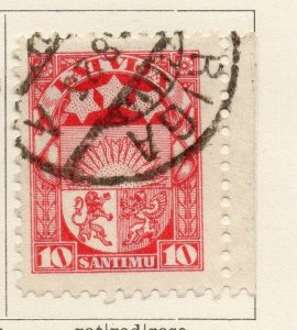 Latvia 1924-25 Early Issue Fine Used 10s. NW-07385