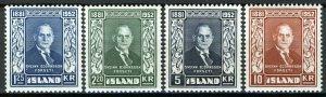 Iceland 1952, President Sveinn Bjørnsson set VF MNH, Mi 281-284 cat 50€