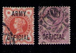 Great Britain  Sc #O54-O55 Army Official Used QV Very Fine