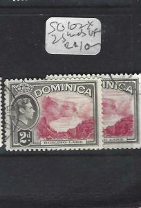 DOMINICA (PP1903B)  KGVI  2 D  SG 102 X 2 SHADES       VFU