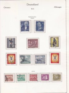GERMANY BERLIN 1953 -55  USED  STAMPS CAT £126   REF R4172