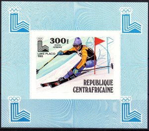 Central African Republic. 1979. luxury bl635. OI in Lake Placid. MNH.