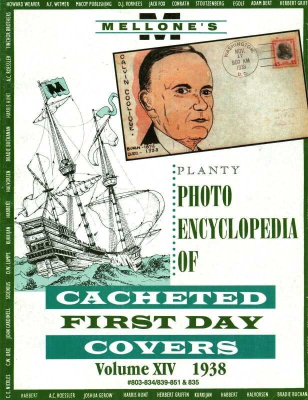 Mellone Planty Photo Encyclopedia First Day Covers 1938 Volume XIV Bound