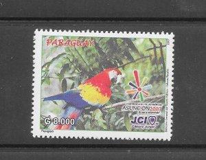 BIRDS - PARAGUAY #2825  MNH