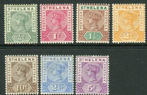 ST HELENA-1890-97  A lightly mounted mint set to 10d Sg 46-52
