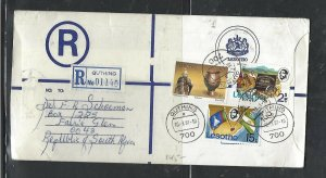 LESOTHO  (PP0310B) 1981 LONG   RLE+ 4C +15C+4 S QUTHING TO SOUTH AFRICA