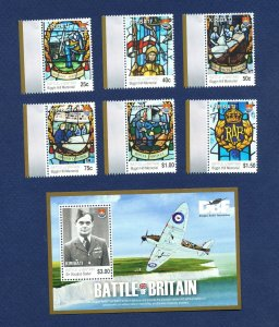 KIRIBATI - Scott 975-981  - FVF MNH - Battle of Britain, airplanes - 2010