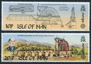 Isle of Man 244-245,MNH.Michel 240-241. EUROPE CEPT-1983.Laxey wheel,Casement.