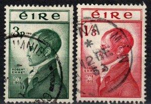 Ireland #149-50  F-VF Used CV $16.85 (X3955)