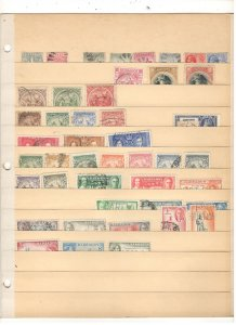 BARBADOS COLLECTION ON STOCK SHEET, MINT/USED