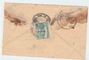 national bank of bangladesh 1972 overprints   stamps cover ref r16216