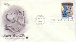 US FDC Sc.# 3227 Organ Donation L832