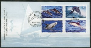 MARSHALL ISLANDS 2007 DOLPHINS  SET FIRST DAY COVER