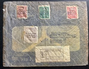 1932 Paraguay Early airmail Crash Accident cover to Hamburg Germany Sc#C1-3