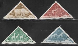 Chad TCHAD Scott J23-J26 short postage due set Mint NO Gum