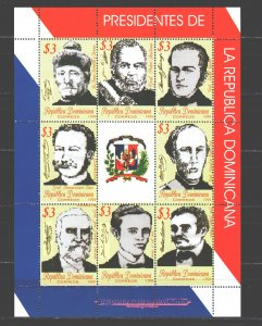 Dominican Republic. 1999. Small sheet 1952-59. Presidents of the Dominican Re...