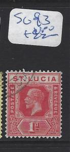 ST LUCIA   (PP2806B)  KGV  1D      SG  93    VFU