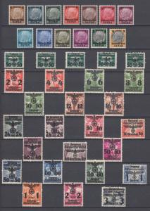 Complete Collection WWII  Third Reich Occup.Generalgouvernement MNH Luxe.