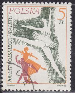 Poland 2705 Hinged 1985 Prima Ballerina 5.00zł