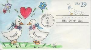1991 Country Geese SE (Scott U624) Melissa Fox HP  FDC