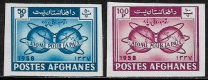 Afghanistan #462-3 MNH Imp Set - Atomic Energy for Peace
