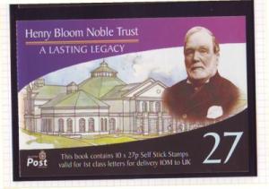Isle of Man Sc 1007Oq 2003 27p Bloom Trust bklt pane mint NH