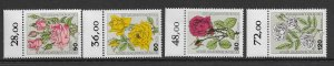 Berlin 9NB 193-196  1982  set  4  VF  NH