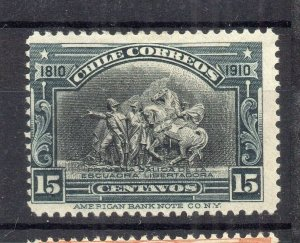 Chile 1910 Centenary Early Issue Mint hinged Shade of 15c. NW-13184