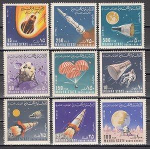 Mahra, Mi cat. 58-66 A. Rockets & Spacecraft issue. ^