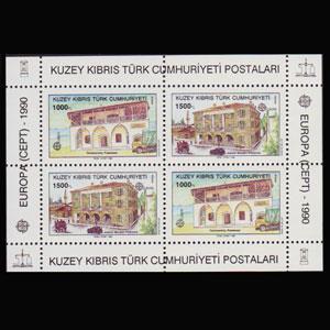 TURKISH-CYPRUS 1990 - Scott# 270a S/S Europa NH