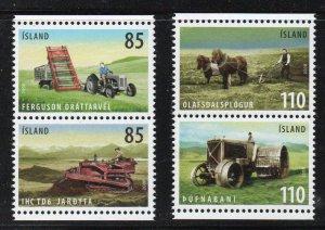 Iceland Sc  1132-33 2008 Agricultural Tools stamp set mint NH