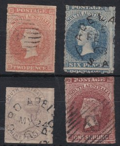 SA242) South Australia 1860-69 Second roulette issue simplified selection compri