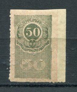 x70 - ESTONIA 1919 Key Value 50m REVENUE Stamp. Fiscal