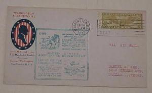 US FDC  8cents AIRMAIL UNLISTED 1932 CACHETED