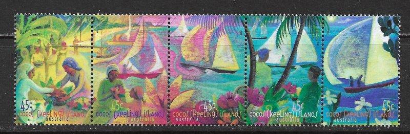 Cocos Islands ~ Scott # 330 ~ MNH ~ Sailboats